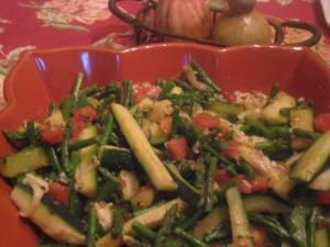 Zucchini Asparagus Melange